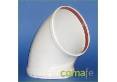 Codo aluminio blanco 45g.111mm