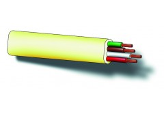 Cable telef.4polos 25mt