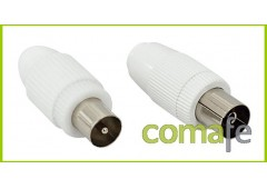 Conector tv recto hembra 9,5mm
